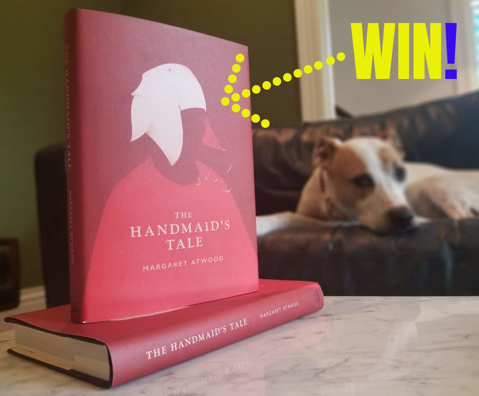 giving away two copes of the handmaids tale