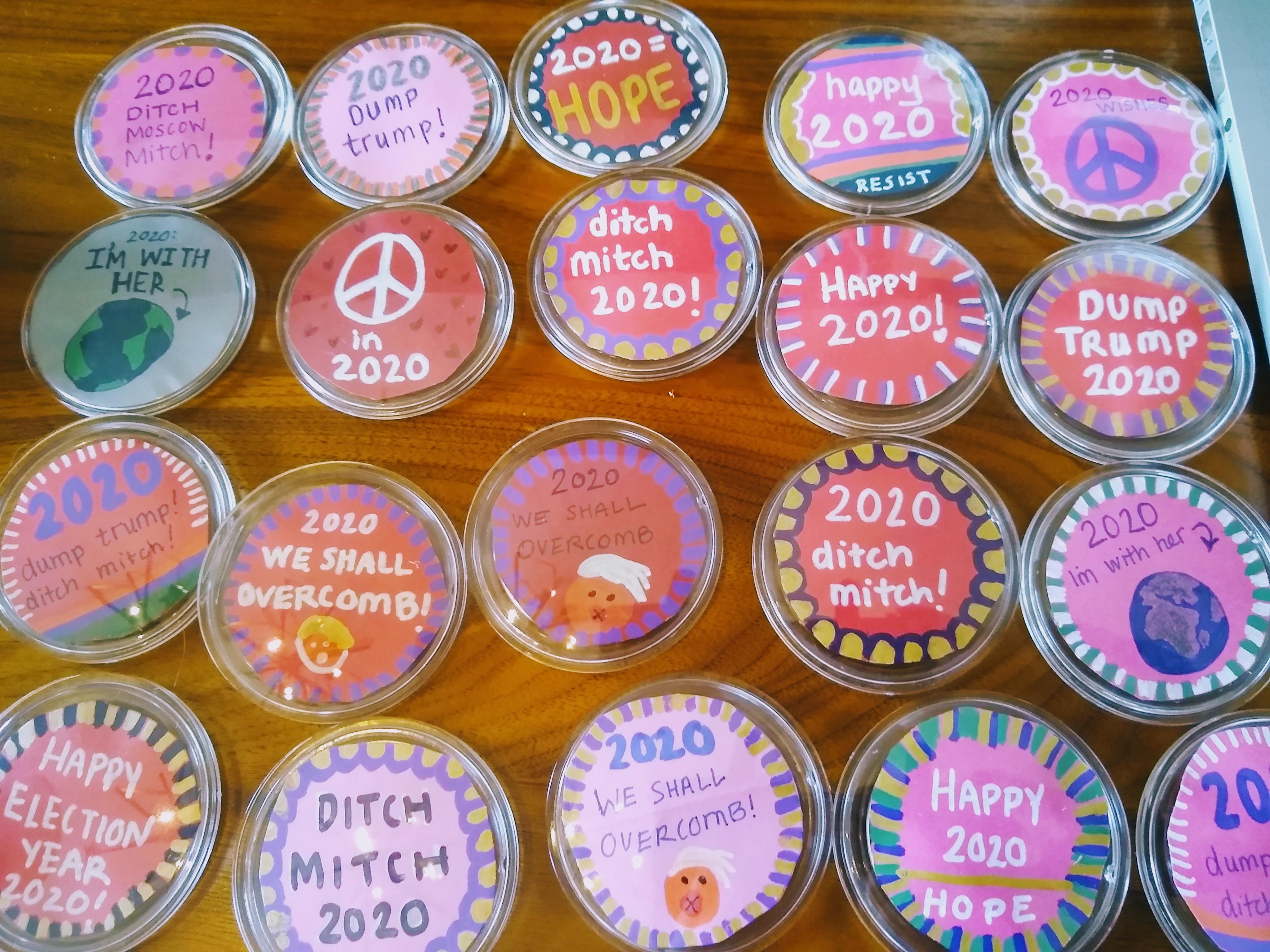 handmade political buttons