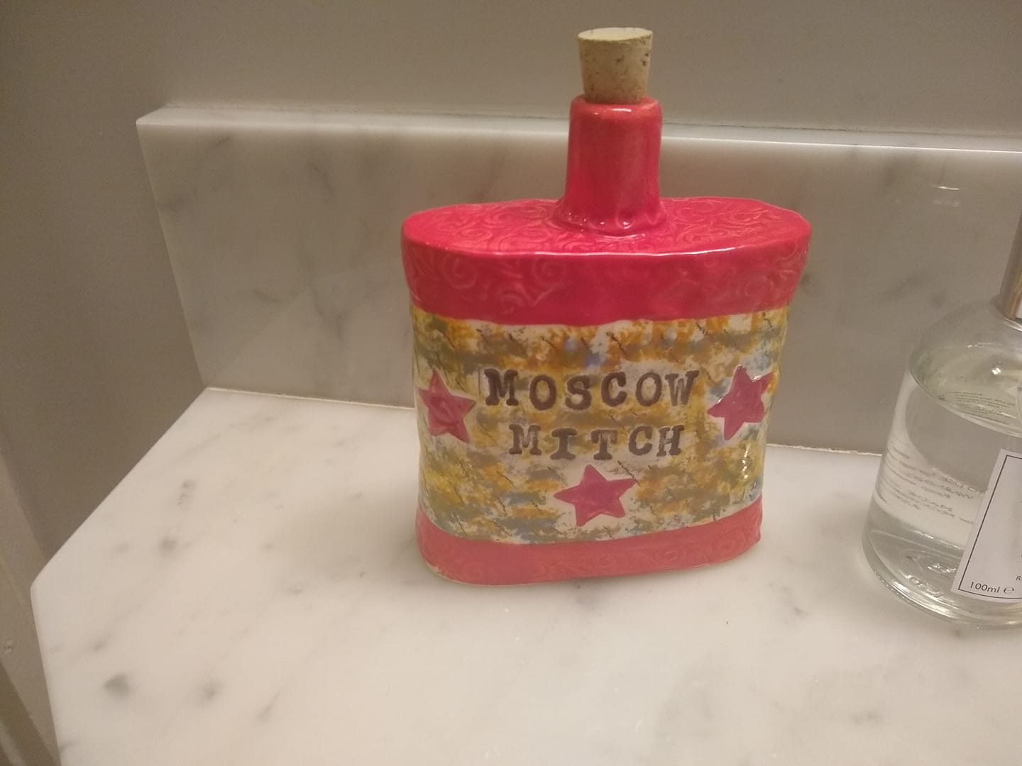 handmade moscow mitch russian red flask