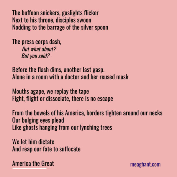 trump buffoon poem meaghan thomas