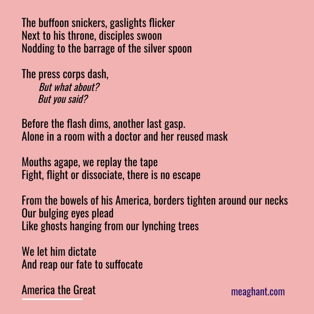 trump buffoon poem meaghan thomas